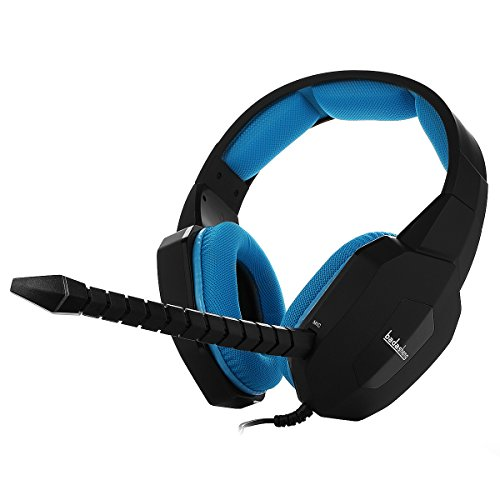- Badasheng PS4 Gaming Headset (Blue) - Compatible with PlayStation 4, Xbox One, PC, Tablet, Smartphones- Noise-Cancelling Headphones with Detachable Microphone - Crystal Clear Video Game Audio