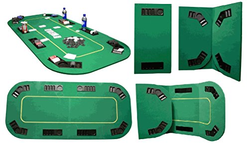 Texas Holdem Full Size Oval Poker Table Top - Includes Bonus Poker Button Set! by TMG