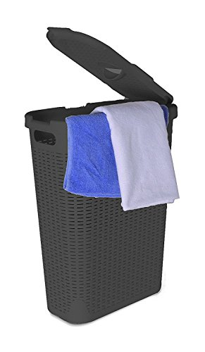 Superio Palm Luxe Laundry Hamper, Gray