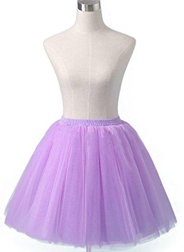 [Sheicon Women Lace Ballet Tutu Princess Dress Dance Skirt For Adult Color Purple Size Onesize] (Gothic Ballerina Halloween Costumes)