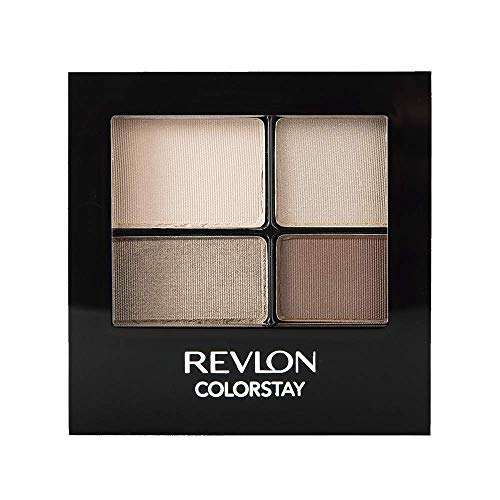 REVLON ColorStay 16 Hour Eyeshadow Quad with Dual-Ended Applicator Brush, Longwear, Intense Color Smooth Eye Makeup for…