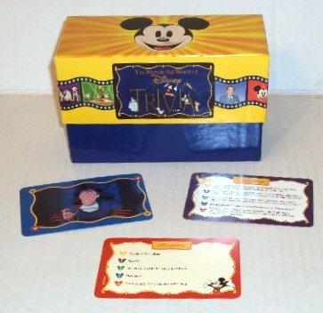 The Wonderful World of Disney Trivia Game Card Set