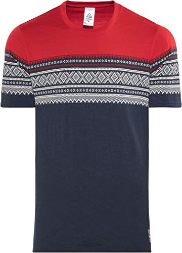 Rouge bleu Manches shirt Designwool Courtes Homme Marius Aclima Original Tshirt 2019 T qF0wHxx8