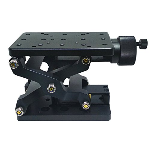 Huanyu Z-Axis Manual Lift Platform 60mm Travel High Precise Optical Sliding Lifting Displacement Platform Table Linear Stage Lab Jack Elevator