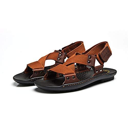 Moda Cuero Verano Masculinas Antideslizante Ocio Los De Respirables Sandalias Genuino Zapatos Suela Hombres Playa Vaca 8ZqzZd