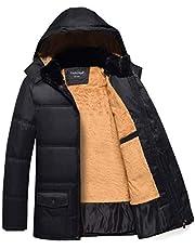 Fashciaga Men's Hooded Faux Fur Winter Coats
