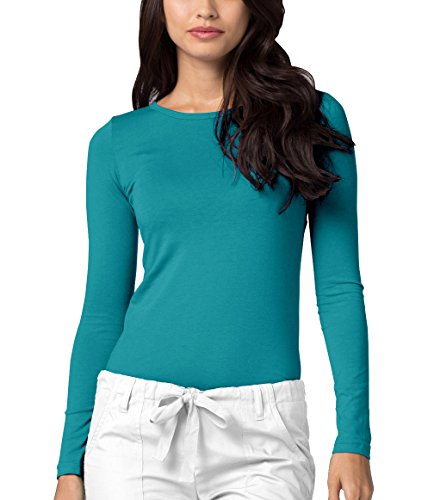 Long Sleeve T-Shirt Underscrub Tee - 2900 - Teal Green - M ()