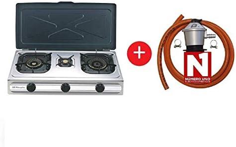 ElectrodomesticosN1 Pack Hornillo a Gas Orbegozo fo 3500 INOX, 3 ...
