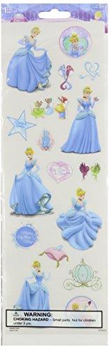 Sandylion Cinderella Glitter Stickers, 4 by 12-Inch, (Cinderella Stickers)