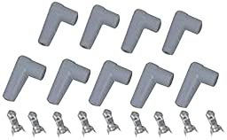 MSD 8848 Spark Plug Wire Boot Kit, (Set of 9)