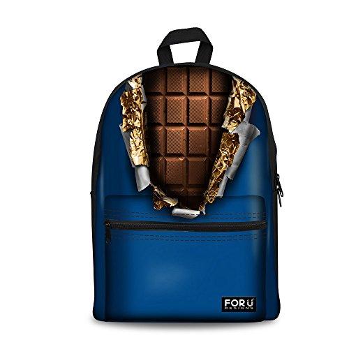 Bigcardesigns Sweet Chocolate Bags Designer Schoolbag backpack Girls