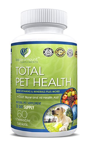 60 25 Chewable Mg Tablets (Bio Paramount Total Pet Support - For Healthy Joints, Digestion Support, Vision Health, and Skin & Coat Health - Cats & Dogs)