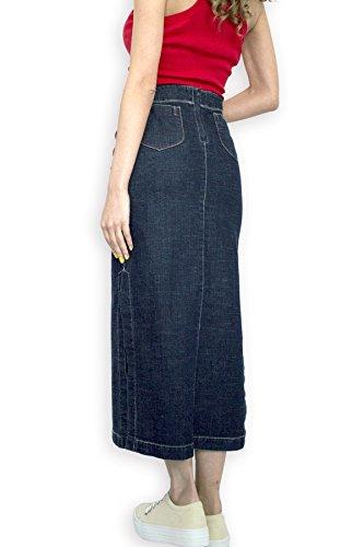 Souvenir-Fashion - Jupe - Crayon - Femme bleu denim