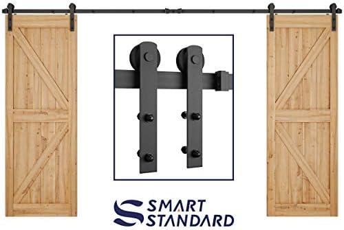 12ft Heavy Duty Double Door Sliding Barn Door Hardware Kit Smoothly