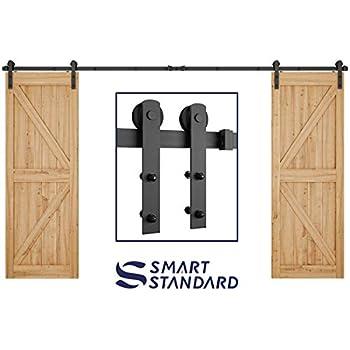 Smartstandard Heavy Duty 16ft Double Gate Sliding Barn Door Hardware