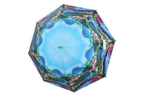po-campo-rain-street-mandarin-village-umbrella-blue-one-size