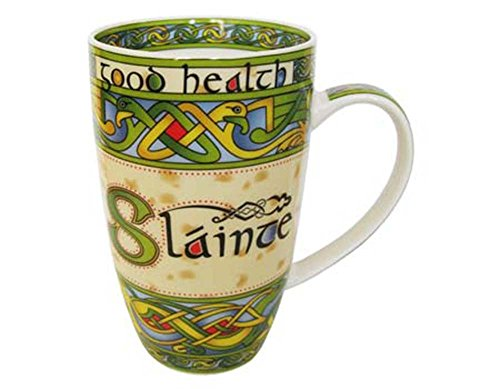 (Irish Weave Ceramic Mug Collection With Slainte)