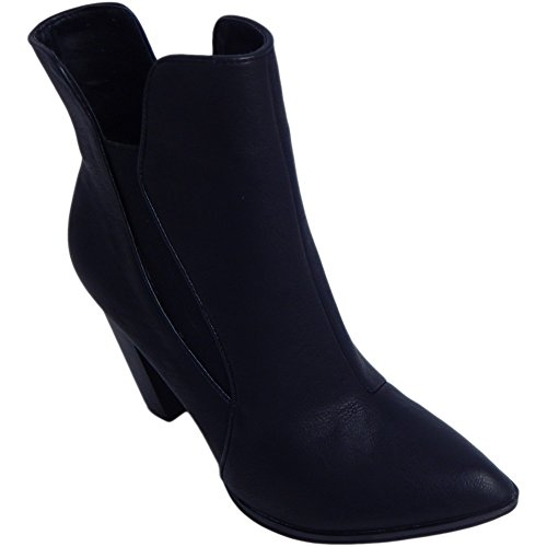 Penny Loves Kenny Women's Avid Chelsea Fashion Boots, Black, Faux Leather, 7 M by Penny Loves Kenny