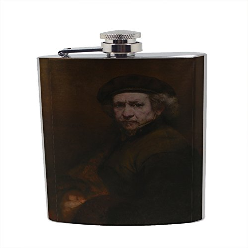 Rembrandt Van Rijn Self-Portrait - Stainless Steel Liquor Flask