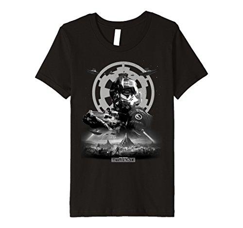Price comparison product image Kids Star Wars Battlefront II Imperial Trooper Premium T-Shirt 10 Black