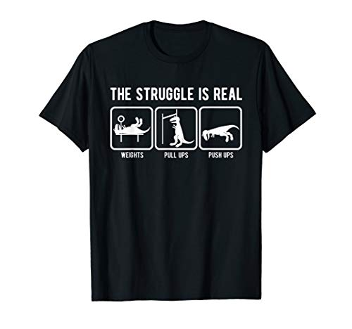 The struggle is real funny T-Rex gym workout t-shirt