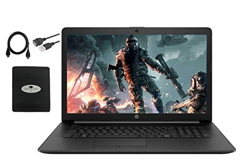 "2020 Newest HP 17.3"" HD+ Screen Laptop Computer, Intel Quad-Core i5-1035G1 (Up to 3.60GHz, Beat i7-8550U), 8GB DDR4 RAM, 256GB PCIe SSD, Webcam, DVD-RW, HDMI, WiFi, Bluetooth, Win10, w/GM Accessories"