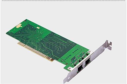 JXSZ PCI 32bit Dual-Port Gigabit Ethernet 8492MT Intel82546 10//100//1000Mbps RJ45 Server Card with Low Bracket
