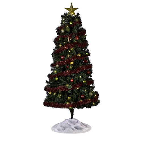 Artificial Christmas Tree. Fake 6 Foot Xmas Decorated With Ornaments & Topper, Fir Looks Stylish With It's Classic Pine Shape, Dense Foliage. Great For Indoor Holiday Season Party Decor. by Artificial-Christmas-Tree