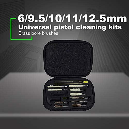 gfjfghfjfh 6//9,5//10//11//12,5 MM Universal Pistole Reinigungsset Tragbare Gewehrlauf Pinsel Werkzeuge mit Tragetasche