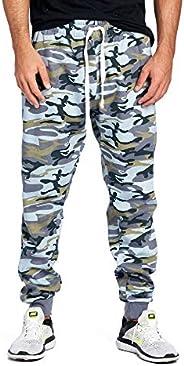ProGo Men's Joggers Sweatpants Basic Fleece Marled Jogger Pant Elastic W