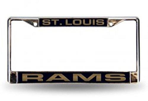 NFL St. Louis Rams Laser-Cut Chrome Auto License Plate -