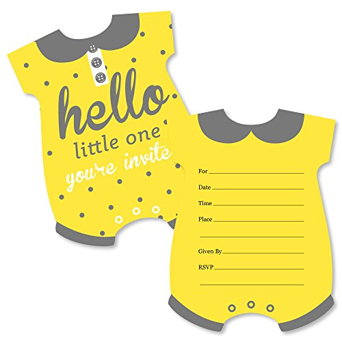 yellow baby shower invitations - 5