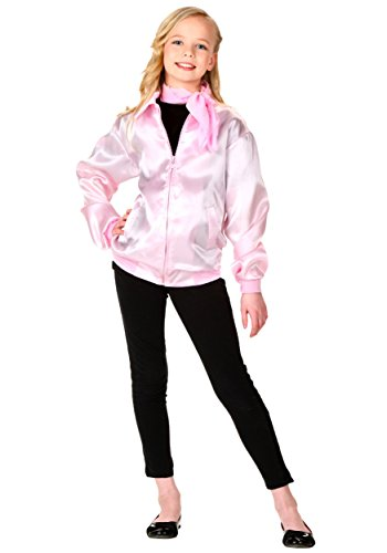 [Girls' Grease Pink Ladies Jacket Medium] (Group Grease Halloween Costumes)
