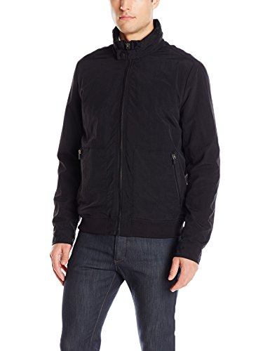- Kenneth Cole New York Men's Crinkle Nylon Lightweight Bomber, Black, Large