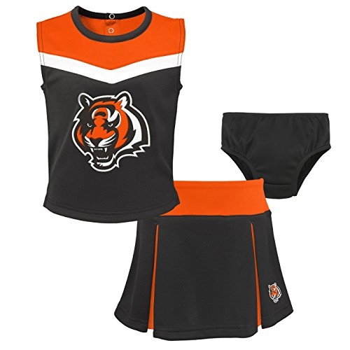 Cincinnati Bengals Cheerleader - Outerstuff Cincinnati Bengals NFL Toddler Girls Spirit Cheer Cheerleader 2 Piece Set