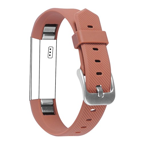 ACBEE Watch Buckle Design Band for Fitbit Alta, Coffee