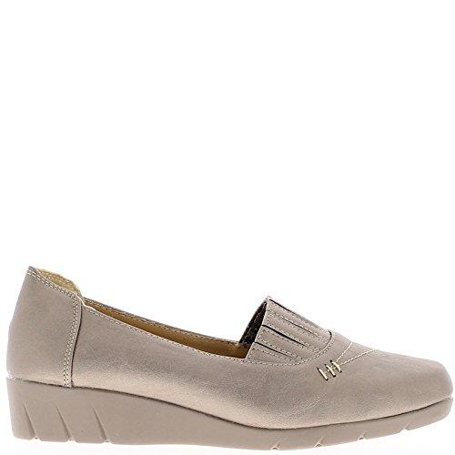 Frau grau-Komfort Schuhe mit elastischer Spitze