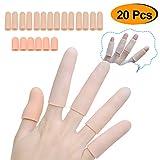 Sumifun Silicone Finger Protectors, Gel Finger Sleeves Support (20 Pcs) Finger Cots Great for Trigger Finger, Finger Arthritis, Hand Eczema, Finger Cracking