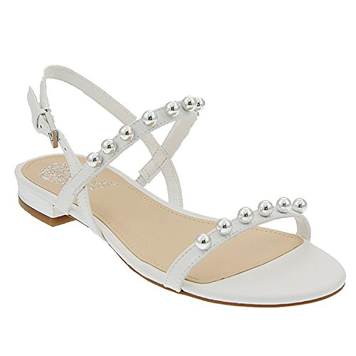Ivory New Sandals Shoes (Vince Camuto Women's Hopper Sandal, New Ivory, Size 5.5)