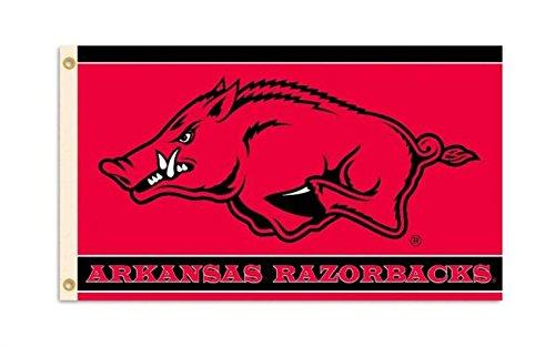 Arkansas Razorbacks College Sports Fan Premium Team Logo 3'x5' Flag Banner (5' Logo Flag)