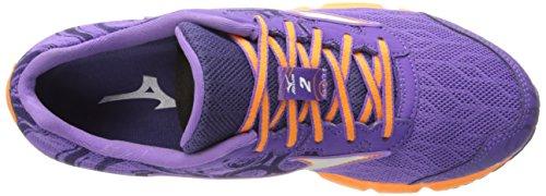 Purple de de mujer Mizuno Wave Orange la Running Hitogami 2 nbsp;Zapatilla qWgHz6