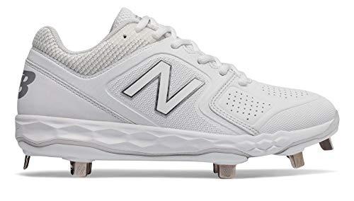 New Balance Women's Velo V1 Metal Softball Shoe, White, 9 D US
