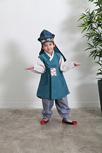 Korean Traditional Costume Hanbok Dress for Boy One Year birthday Happy New Year Chuseok Thanksgivingday by Secondream
