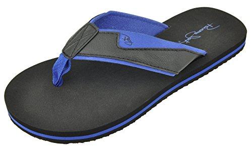 Panama Jack Mens Avslappnade Sandal Flip Flops Blåsvarta