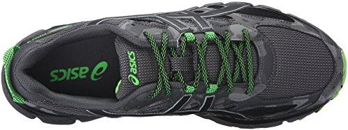 Asics Gel-scram 3 Trail Runner Carbone / Noir / Vert Gecko