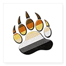 "CafePress - Bear Paw Sticker - Square Bumper Sticker Car Decal, 3""x3"" (Small) or 5""x5"" (Large)"