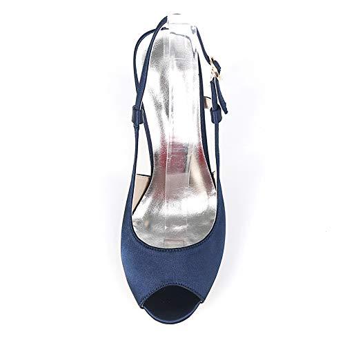 Per Seta 9cms In Toe Moojm Alti Con Bocca Multicolore Ladies Sandali Ivory Donna Fibbia Tacchi pOHq5Fw