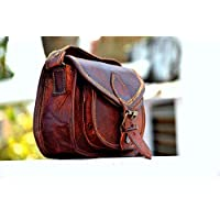🎁 Handmade 100% Pure Leather Women Purse Shoulder Bag Crossbody Satchel Ladies Tote Travel Purse Genuine Leather | 11 x 9 Inch | With Free Shipping