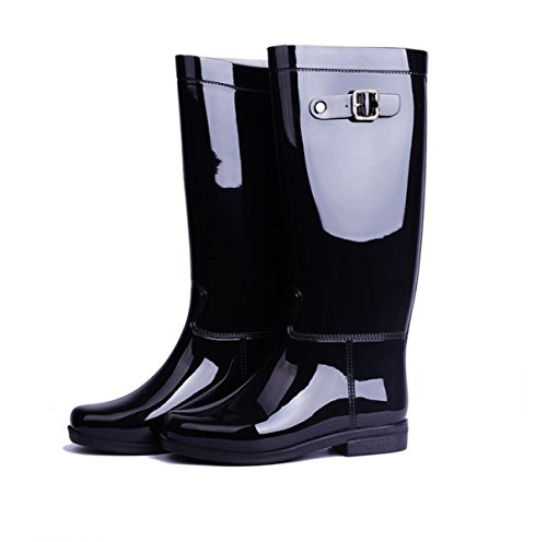 HOFFNUNG Männer Frauen Regen Stiefel Wasser Schuhe Wasser Anti-Schlamm Vier Jahreszeiten Anti-Rutsch Keep Warm Breathable,D-b A