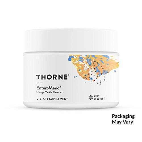 Thorne Research - EnteroMend (Orange Vanilla Flavor) - Botanical and Amino Acid Formula to Support Intestinal Health - 5.9 (Intestinal Permeability Support)